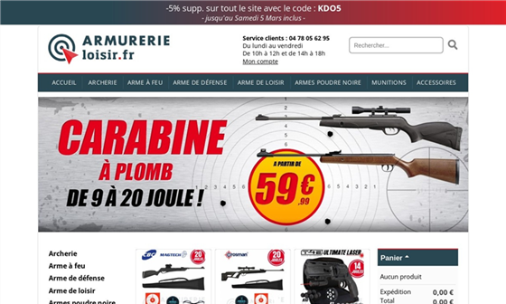 Recherche sur armurerie for Archerie montpellier