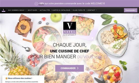 capture d'écran du site Epicerie fine Vatel Gourmet - Achat en ligne de pâtisserie, confiserie, cadeaux