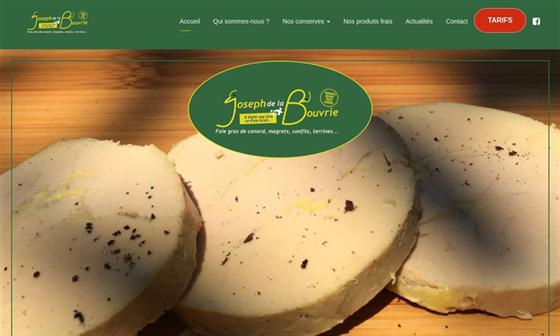 capture d'écran du site Producteur de foie gras en Loire Atlantique