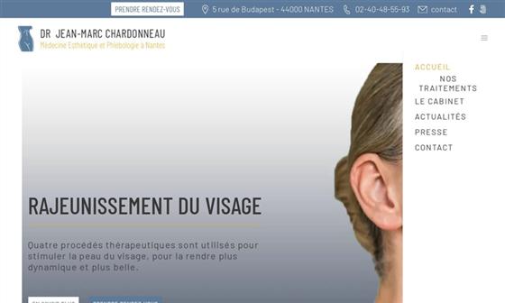 capture d'écran du site Dr Chardonneau - Centre de médecine esthétique et laser à