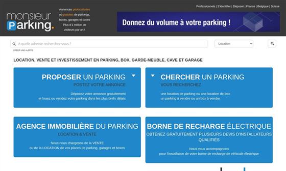 Location et vente de parkings box for Vente en location