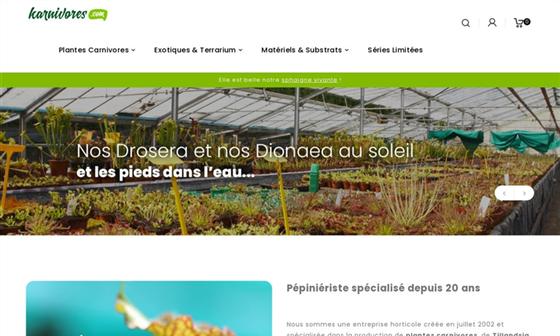 Recherche sur plante carnivore for Site de vente de plantes en ligne