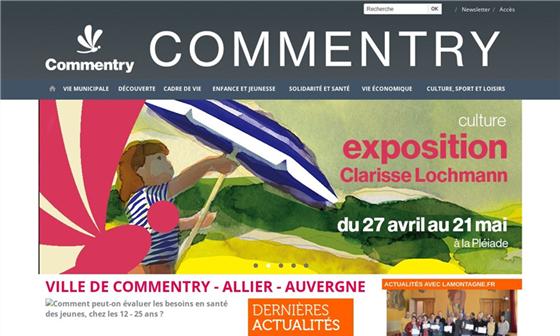 capture d'écran du site Ville de Commentry